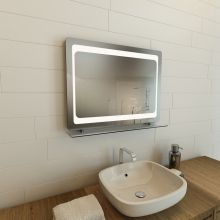 LED Mirror with shelf ABL-004