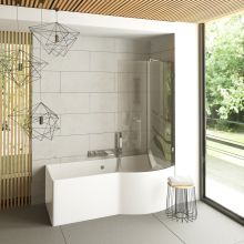 Ovale Glass Bathtub Screen