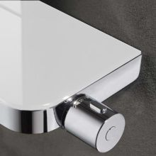Cascade Shower Set White Glass Plate