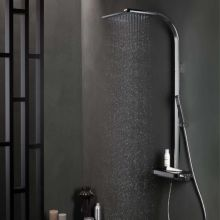 Cascade Shower Set Black Glass Plate