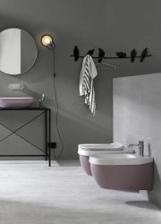 Hung Toilet Abito Old Rose 56