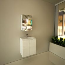 Optima Mona Mirrored Bathroom Cabinet