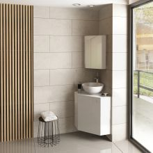 Optima Dolce Corner Bathroom Cabinet