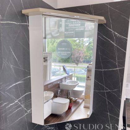Vivid Corner Mirrored Bathroom Cabinet With Led Light 451 00lv In Stock Bv350mir