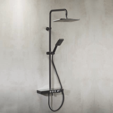 Vema Wellness Black Matt Thermostatic Shower Set