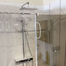 Vema Wellness Crome/White Thermostatic Shower Set