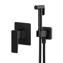 Parma Black Bidet Shower Mixer Set