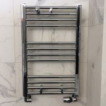 Roberta S Chrome Bathroom Heating Rail